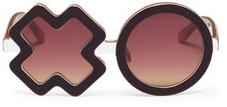Xo Sons+Daughters Eyewear 'XO' frame acetate kids sunglasses