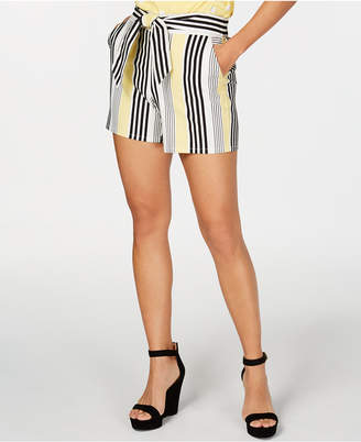 INC International Concepts I.n.c. Striped Tie-Front Shorts