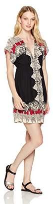 Angie Women's Black Kimono Dress