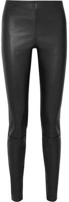 By Malene Birger Elenasoi Stretch-leather Leggings - Black
