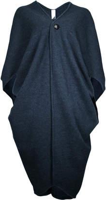 Format ACRE Dark Blue Wool Fleece Cardigan - Blue/Grey