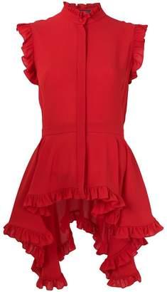 Alexander McQueen asymmetric ruffle blouse