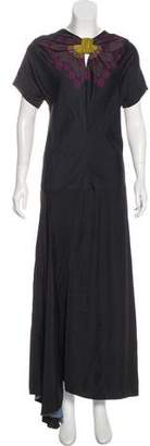 Prada Short Sleeve Maxi Dress