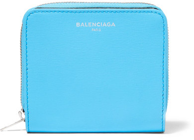 Balenciaga  Balenciaga - Essential Textured-leather Wallet - Azure