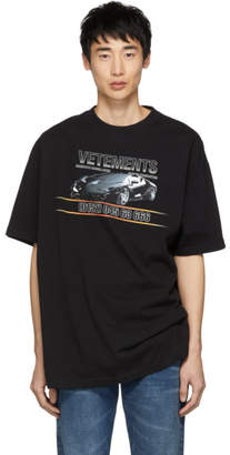 Vetements Black Car Hotline T-Shirt