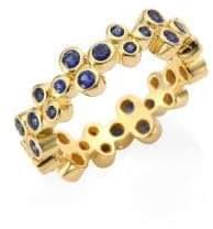 Temple St. Clair Trio Eternity Blue Sapphire Ring