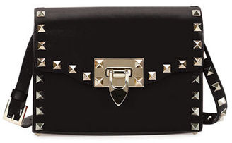 Valentino Rockstud Mini Leather Flap Shoulder Bag $995 thestylecure.com