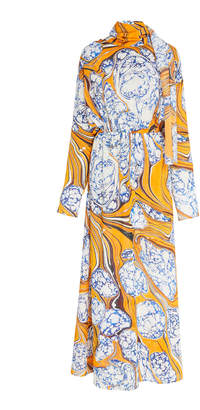 Rosie Assoulin Scarf Dress With Cinched Waist