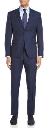 DKNY Two-Piece Navy Micro Check Uptown Suit