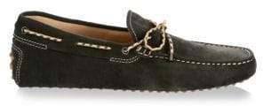 Tod's Men's Gommini Leather Moccasins - Moss Green - Size 4 UK (5 US)