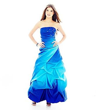 JCPenney Reign On Ombré Pick-Up Gown