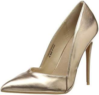 dbe4b1160bd Lost Ink Women s Alexa Low Cut Court (Wide Fit) Closed Toe Heels Rose Gold