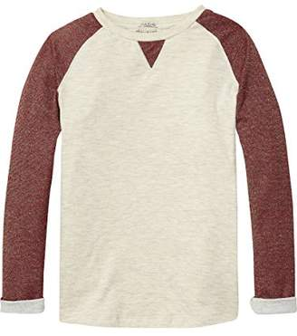 Scotch & Soda R'Belle Girl's Long Sleeve Bonded Glitter Jersey Sweatshirt
