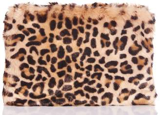 Quiz Leopard Faux Fur Bag