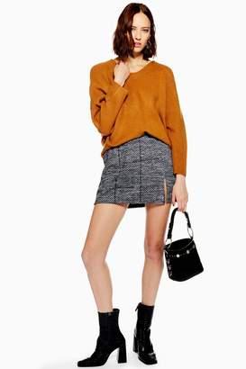 Topshop Herringbone Mini Skirt