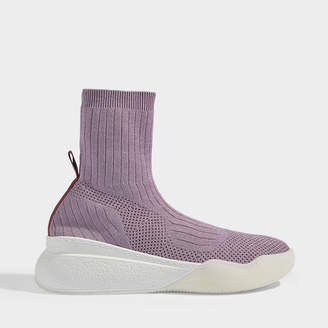 Stella McCartney Loop Sneakers In Blossom Silver And Lilac Synthetic Fabric