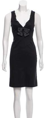Blumarine Sleeves Mini Dress