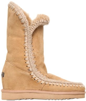 70mm Eskimo Shearling Wedge Boots $365 thestylecure.com