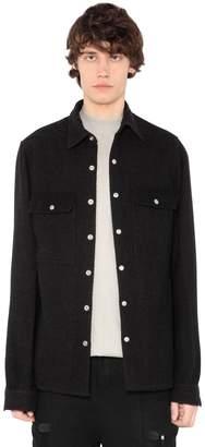 Rick Owens Heavy Wool & Linen Blend Shirt Jacket