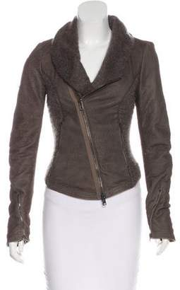 Isabel Benenato Distressed Leather Jacket