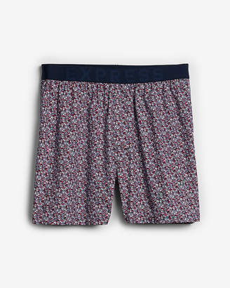 Express Micro Floral Exposed Waistband Woven Boxers