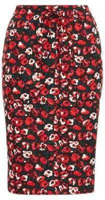 Ralph Lauren Floral Georgette Skirt Lipstick Multi 16