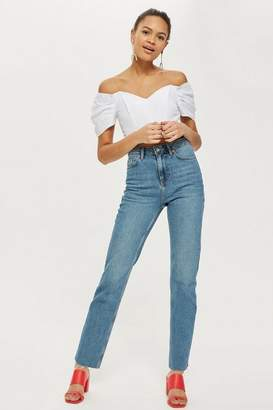 Topshop MOTO Authentic Straight Leg Jeans