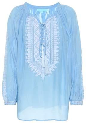 Melissa Odabash Simona embroidered top