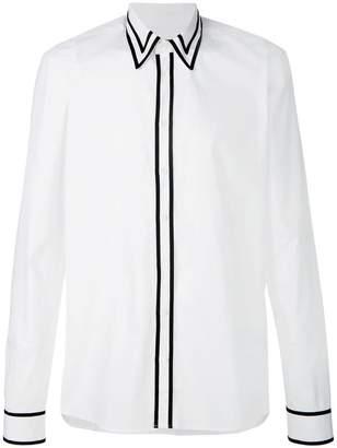 Balmain contrast trim shirt