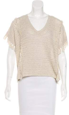 Madewell Fringe-Trimmed Open Knit Sweater