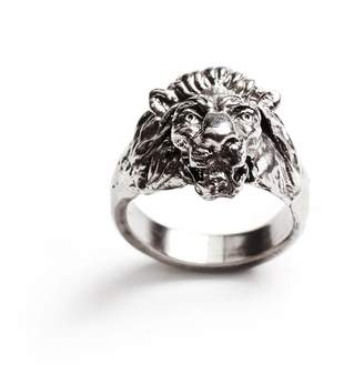 Lulu Frost George Frost Bravery Lion Ring - White Bronze