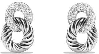 David Yurman Belmont Drop Earrings with Diamonds