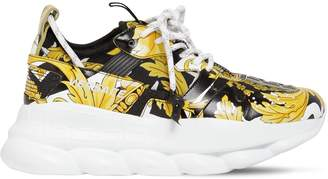 Versace Chain Reaction 2 Printed Mesh Sneakers