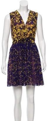 Cacharel Silk-Blend Patterned Dress