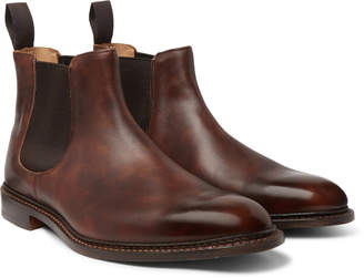Tricker's Roxbury Leather Chelsea Boots - Men - Brown