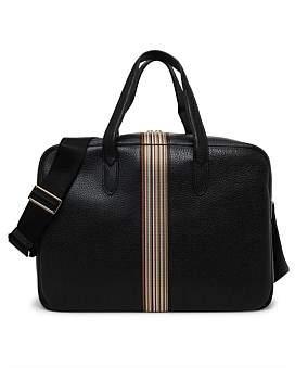 Paul Smith Multistripe Leather Weekend Bag