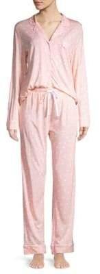 Saks Fifth Avenue COLLECTION Geometric Printed Knit Pajamas Set