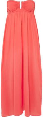 Eres Zephyr Rosalie Cotton-jersey Maxi Dress - Papaya