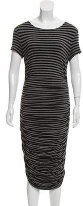 Norma Kamali Striped Midi Dress