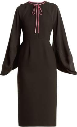 Roksanda Atlen puff-sleeved crepe-cady pencil dress