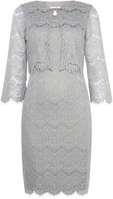 Eliza J 2 piece lace jacket dress