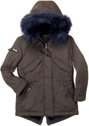S13 (Girls 4-6x) Canyon Faux Fur Trim Hooded Parka