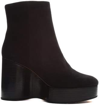 Robert Clergerie Belen Sculptural-wedge Suede Ankle Boots