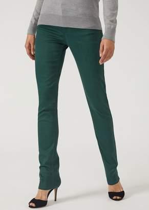 Emporio Armani J17 Slim-Fit Five-Pocket Waxed Denim Jeans