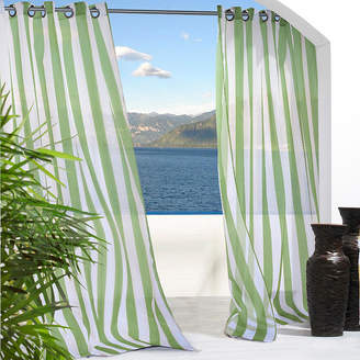 Asstd National Brand Escape Stripe Grommet-Top Outdoor Curtain Panel