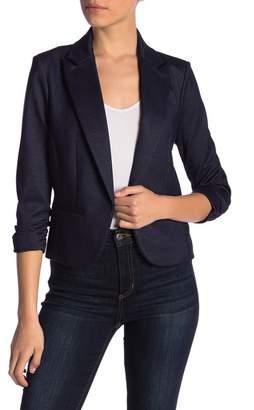 Amanda & Chelsea Shimmer 3\u002F4 Sleeve Ponte Knit Blazer (Petite)