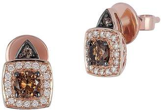 LeVian Le Vian Women's Chocolatier 14K Strawberry Gold, Vanilla Diamonds & Chocolate Diamonds Earrings