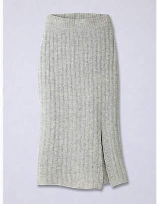 INED (イネド) - INED 太リブニット前スリット入りスカート