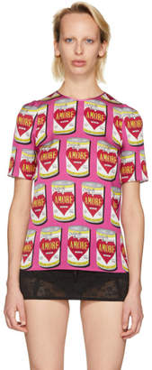 Dolce & Gabbana Pink Amore Energy Cans Blouse