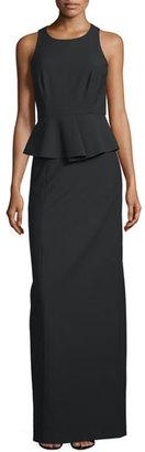 Elizabeth and James Vivie Sleeveless Peplum Gown, Black $695 thestylecure.com